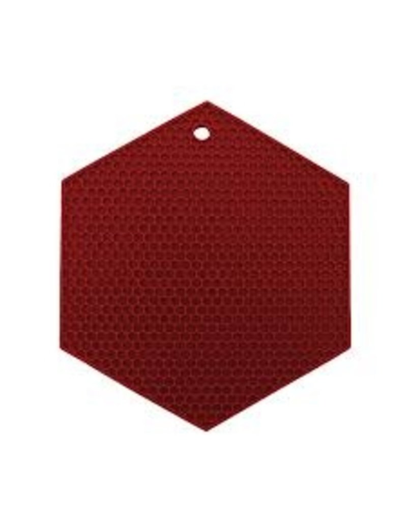 Lamson HOTSPOT Honeycomb Silicone Trivet, Red