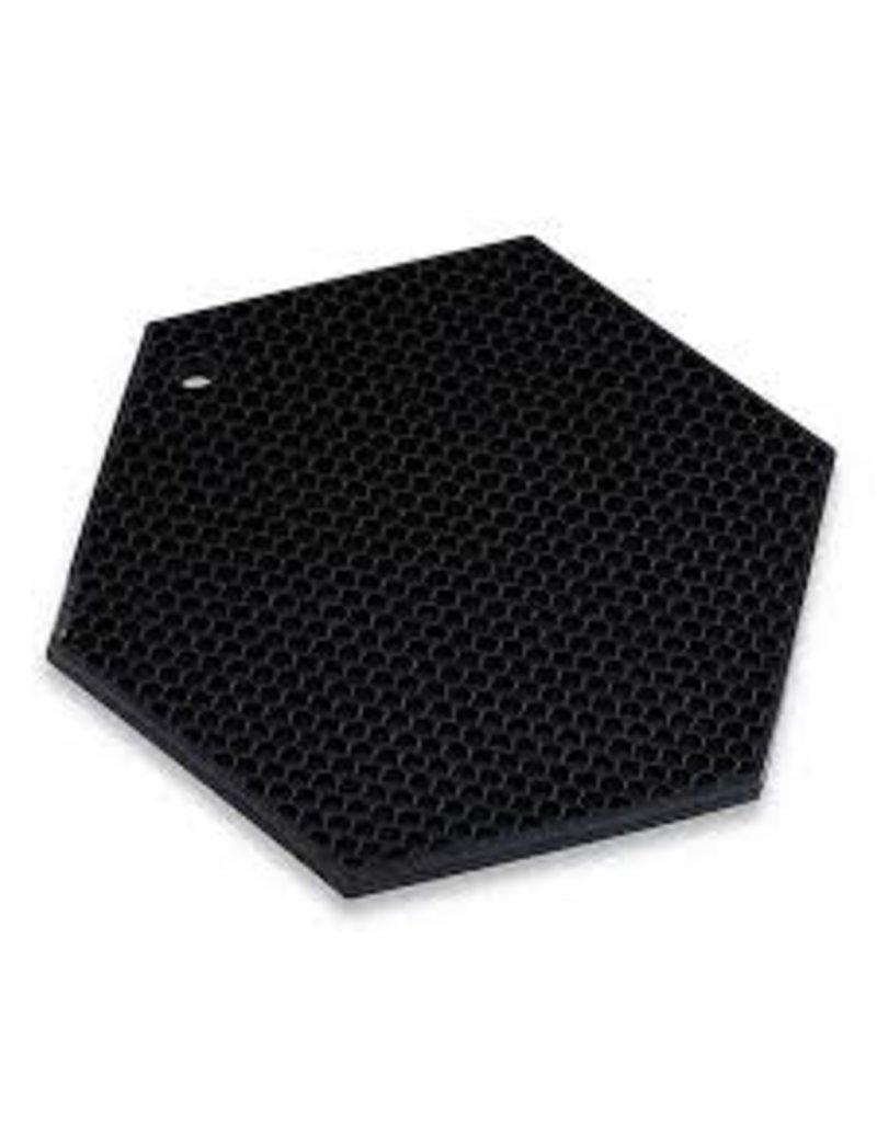 Lamson HOTSPOT Honeycomb Silicone Trivet, Black