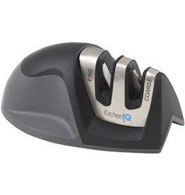 KitchenIQ Edge Grip Counter Mini Knife Sharpener, Black/24