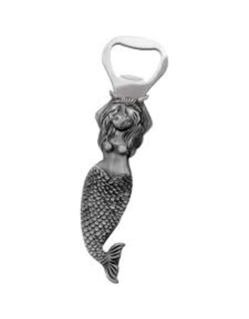 ThirstyStone Bottle Opener - Mermaid, silver color