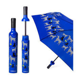 Vinrella Wine Bottle Umbrella - Spot On Dog-blue