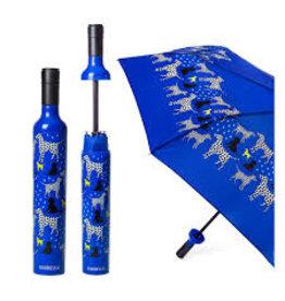 Vinrella Wine Bottle Umbrella - Spot On Dog-blue