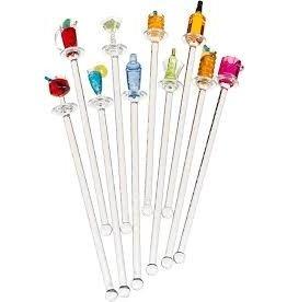 Prodyne Acrylic Happy Hour Swizzle Sticks Set of 10