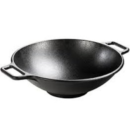 Lodge Cast Iron Flat Bottom Wok 14'', Preseasoned