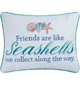 C and F Home Pillow Friends Are Like Seashells