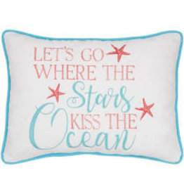C and F Home Pillow Stars Kiss The Ocean