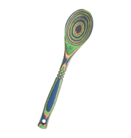 Island Bamboo/Wilshire Green Peacock Pakkawood Spoon