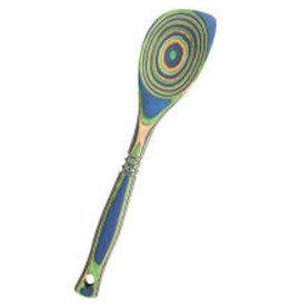 Island Bamboo/Wilshire Green Peacock Pakkawood Corner Spoon