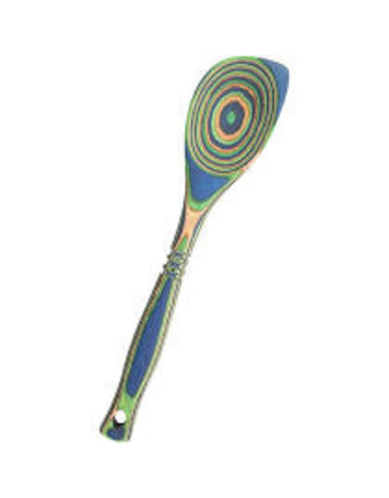 Island Bamboo/Wilshire Green Peacock Pakka Corner Spoon