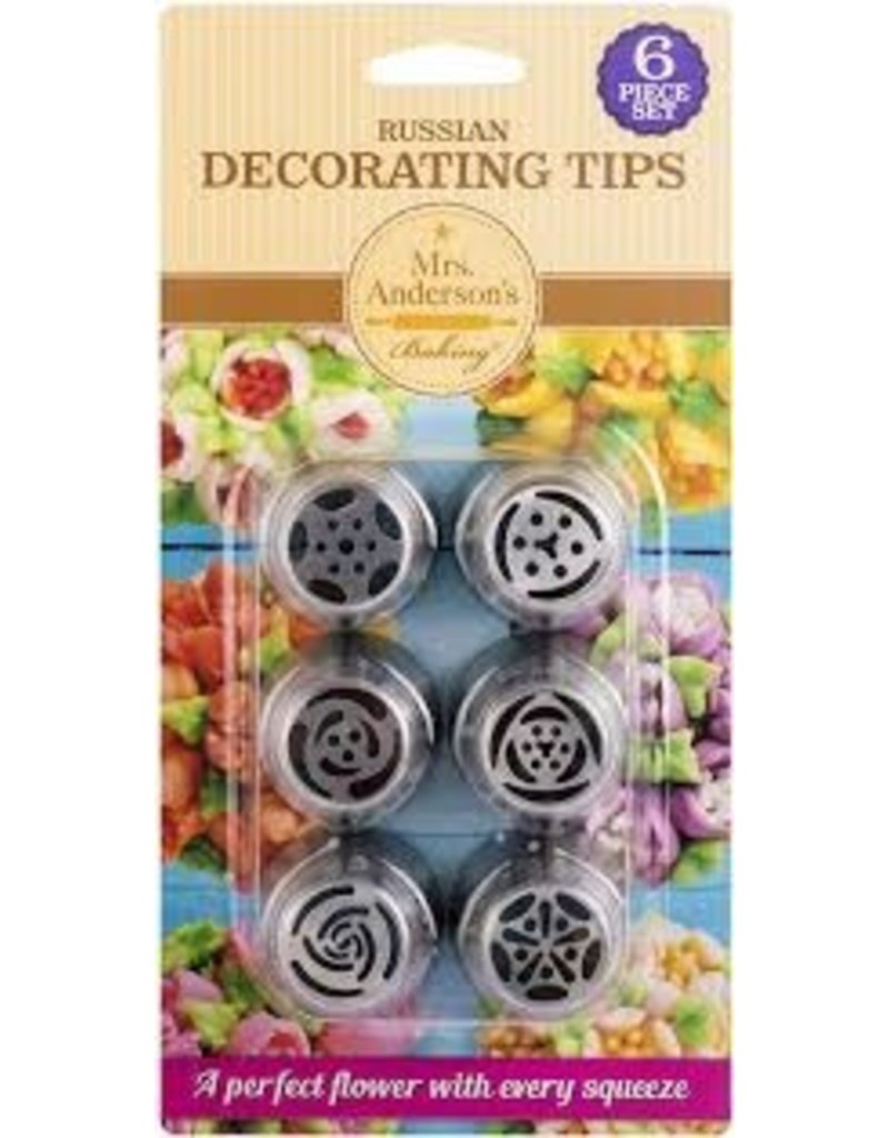 Harold Imports Mrs Anderson Russian Pastry Tips Set of 6