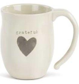 Demdaco Heart Mug - Grateful  16oz DISC