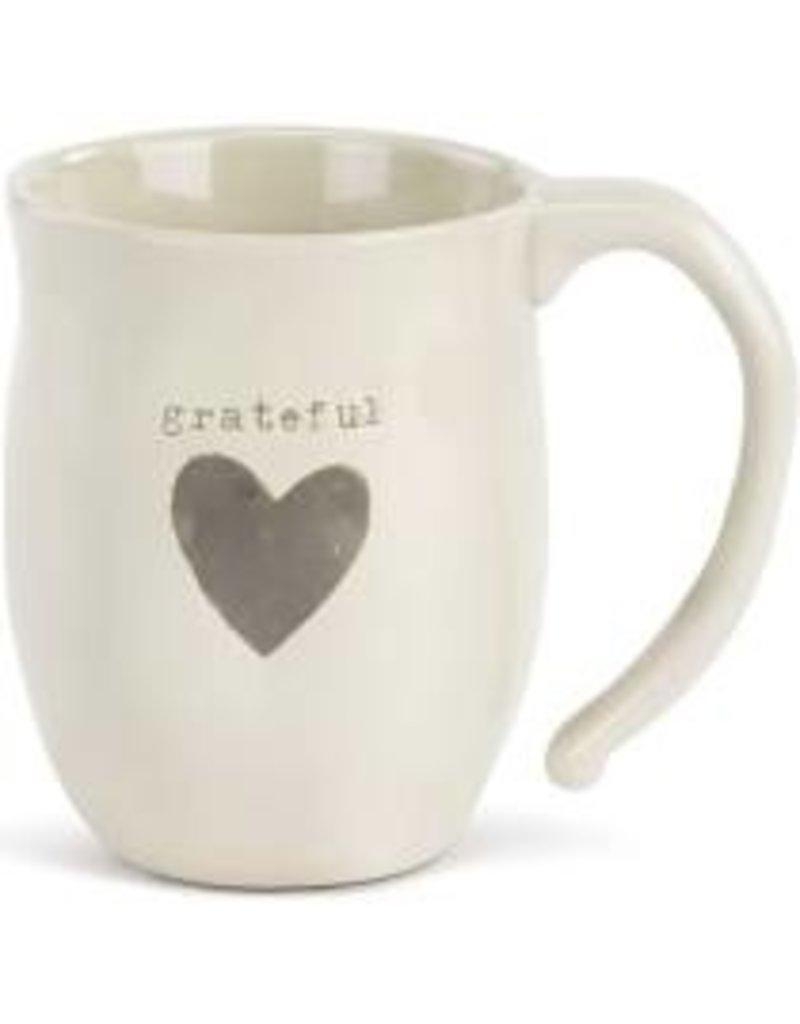 Demdaco Heart Mug - Grateful  16oz