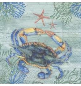 Boston International Luncheon Napkin, Clearwater Crab