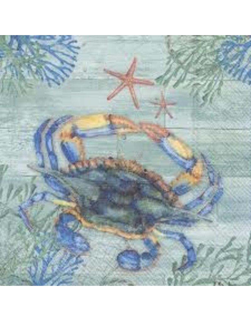 Boston International Luncheon Napkin, Clearwater Crab