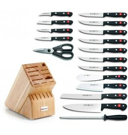 Wusthof Wusthof Gourmet 18Pc Knife Block Set, Acacia