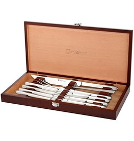 Wusthof Wusthof Stainless 10Pc Steak/Carving Knife Set in Cherry Chest