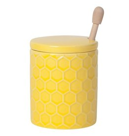 Now Designs Honey Pot & Dipper, Honeycomb