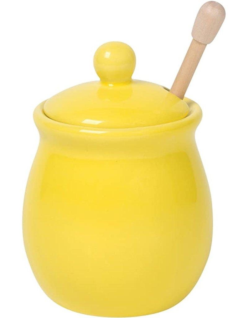 Now Designs Honey Pot & Dipper, Lemon DISC