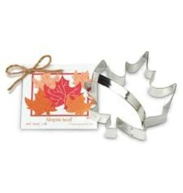 Ann Clark Cookie Cutter Fall Maple Leaf with Recipe Card, TRAD