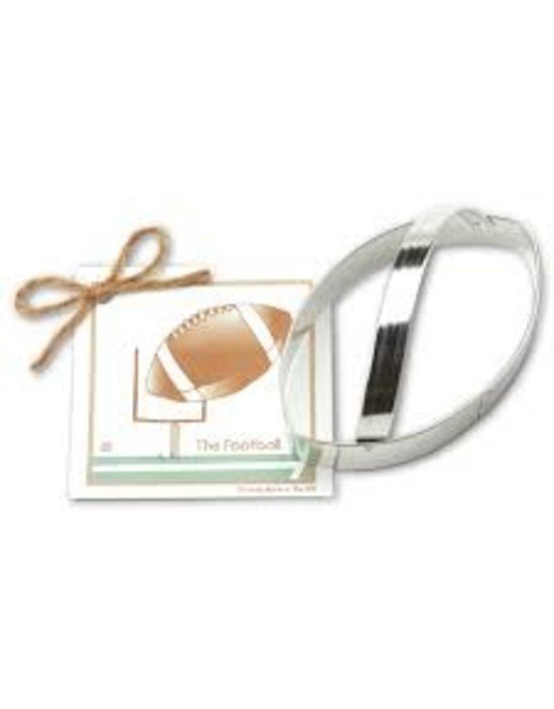 Ann Clark Cookie Cutter Fall Football with Recipe Card, TRAD