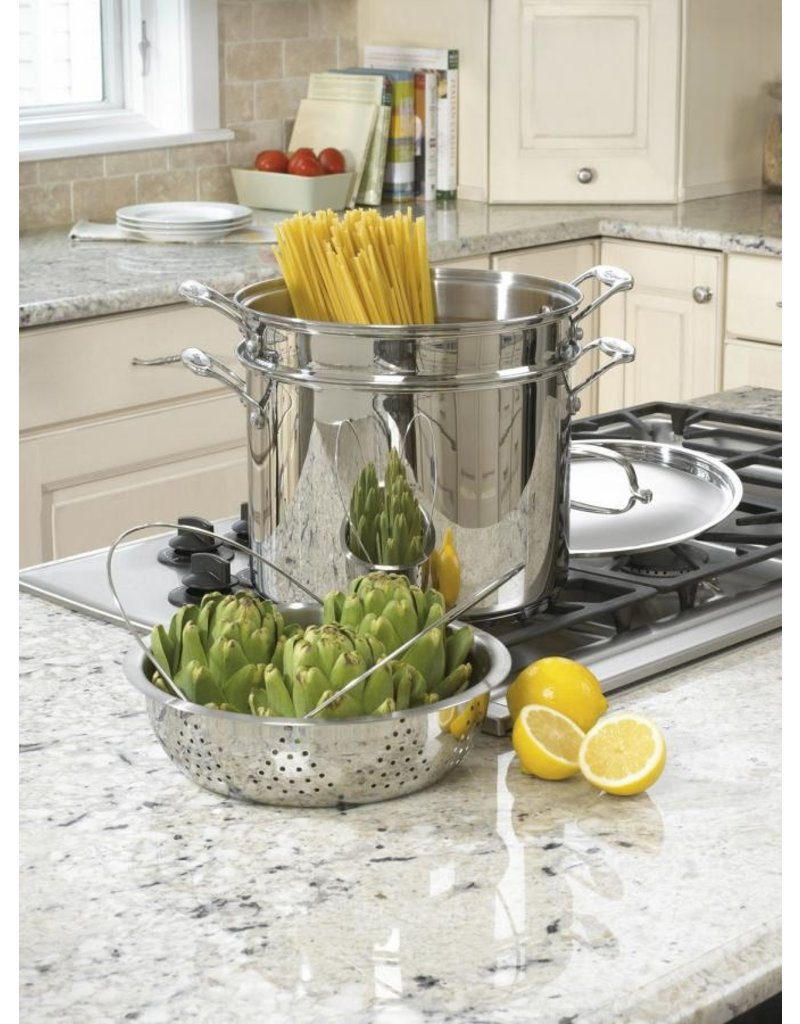 Cuisinart Chef's Classic 4Pc 12qt Pasta/Steamer Set, Stainless