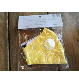 Howards Face Mask with Vent & Filter, Yellow