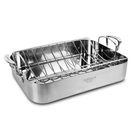 "Cuisinart Multiclad Pro 3-Ply Stainless 16"" Roaster with Rack"