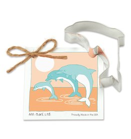 Ann Clark Cookie Cutter Dolphin with Recipe Card, TRAD
