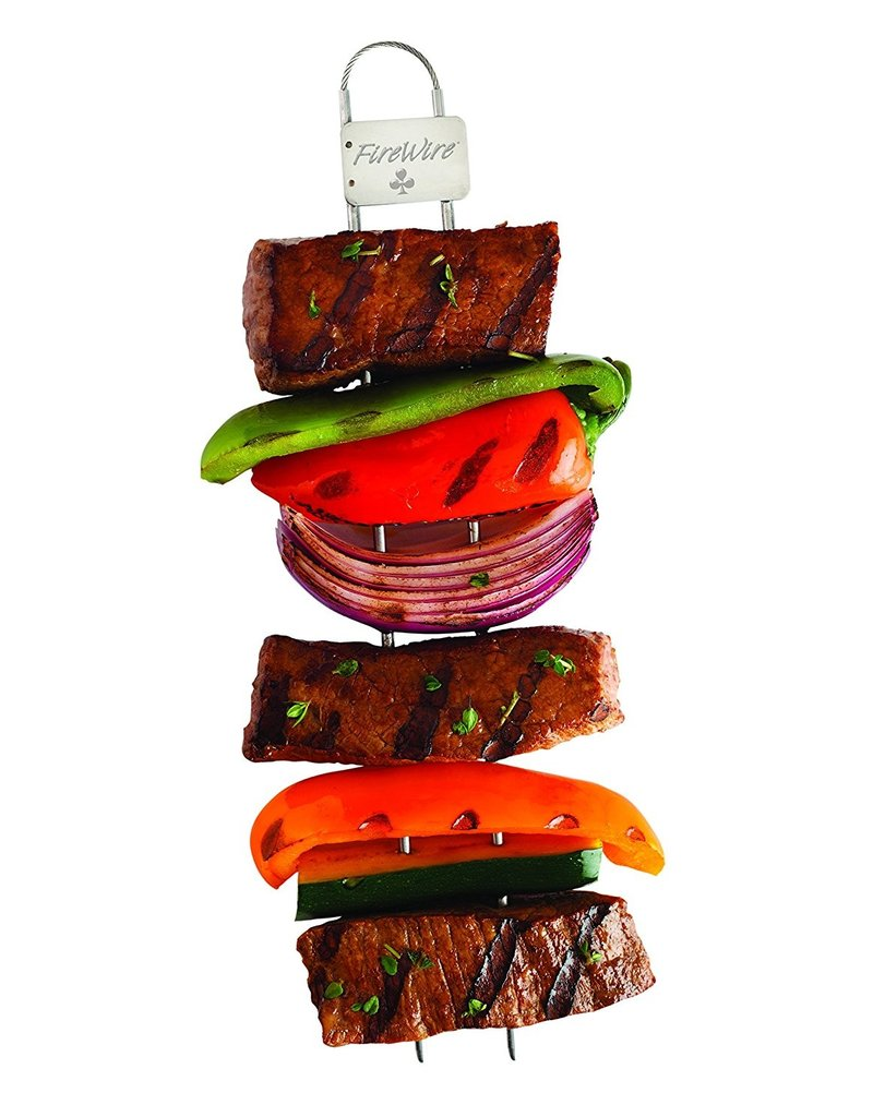 KitchenIQ Fire Wire Double Prong Skewer 4-Pack