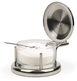 RSVP Endurance Salt Server With Spoon, Glass & Stainless