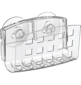 Sinkworks Suction Sink Sponge Holder, Clear Plastic