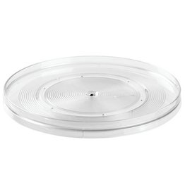 "Linus 9"" Rotating Turntable, Clear Plastic"