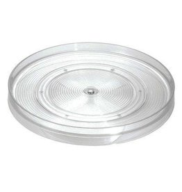 "Linus 11"" Rotating Turntable, Clear Plastic"