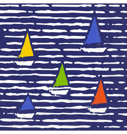 Boston International Cocktail Napkin, Waterline Boats