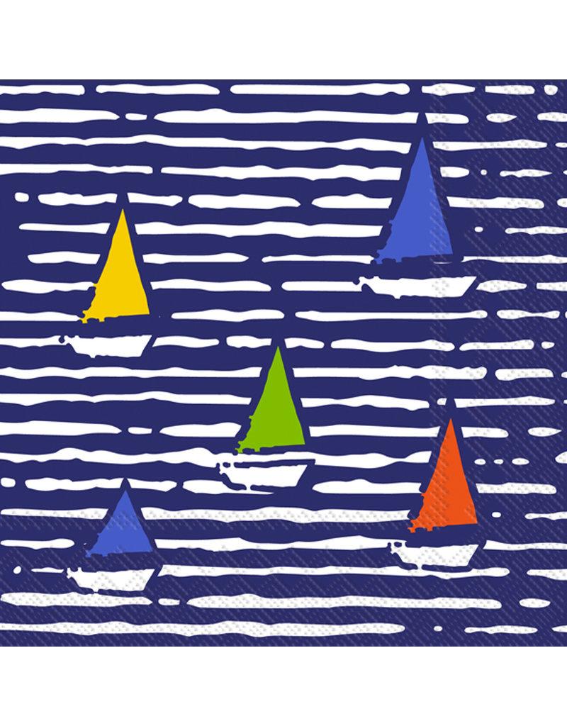 Boston International Cocktail Napkin, Waterline Boats