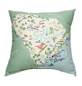 GalleyWare Pillow, SC Map