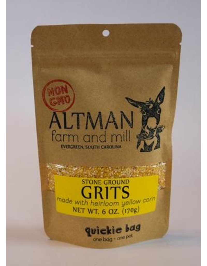 Altman Farm Yellow Stone Ground Grits 6oz