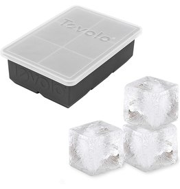 Tovolo King Ice Cube With Lid, Charcoal Gray