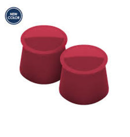 Tovolo Silicone Wine Caps Set of 2, Cayenne Red