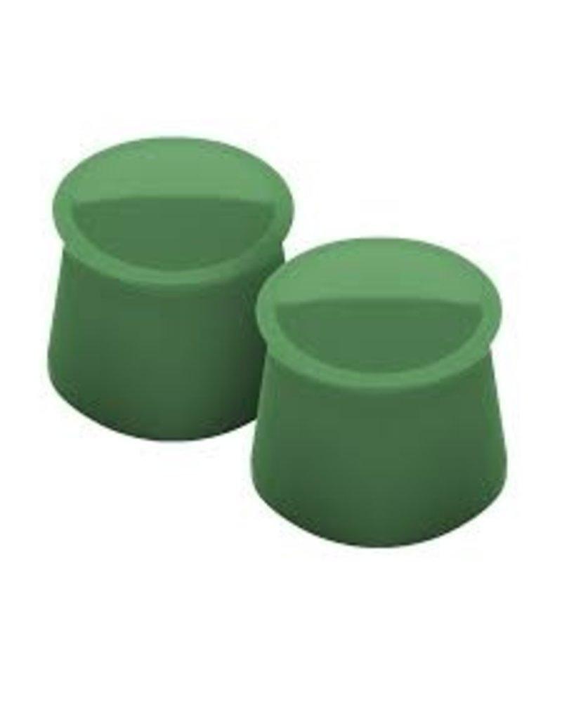 Tovolo Silicone Wine Caps Set of 2, Pesto Green