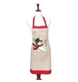 C and F Home Holiday Apron Snowman Ball