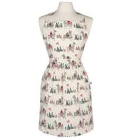 Now Designs Holiday Apron, Classic, Happy Llamadays