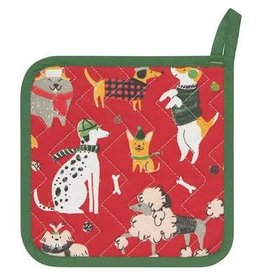 Now Designs Holiday  Potholder, Yule Dogs