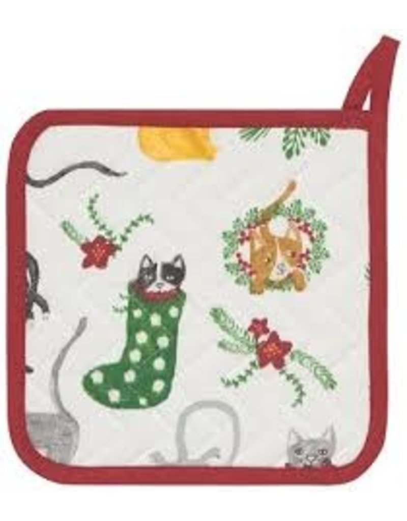 Now Designs Holiday  Potholder, Meowy Christmas