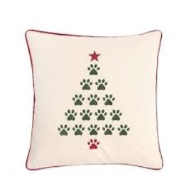 C and F Home Holiday Pillow Christmas Tree Paws