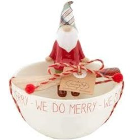 Mudpie Holiday Gnome Dip Cup Set-MERRY