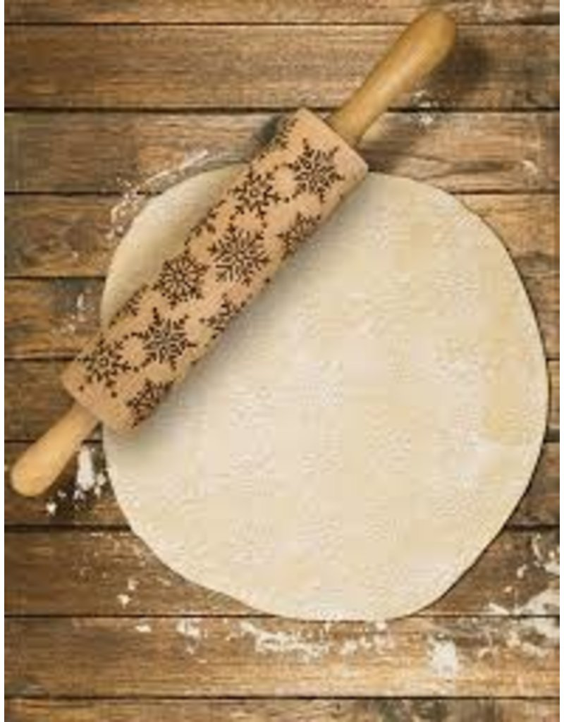 Harold Imports Mrs Anderson's Holiday Snowflake Rolling Pin