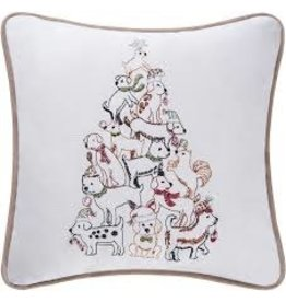 C and F Home Holiday Pillow Puppy Tree 10x10