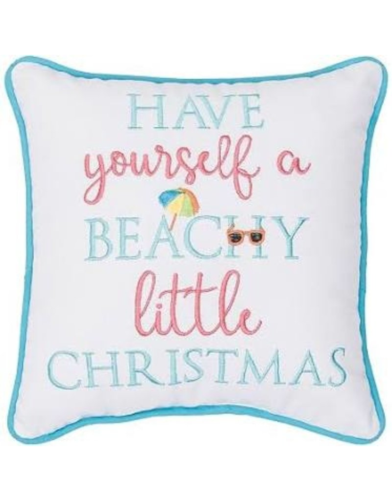 C and F Home Holiday Pillow Beachy Little Christmas 10x10
