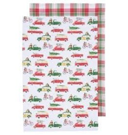 Now Designs Holiday Dish towels Holiday Cars, Set of 2